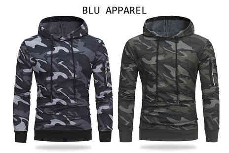 Bluebell Retail - Mens camo hoodie - Save 57%