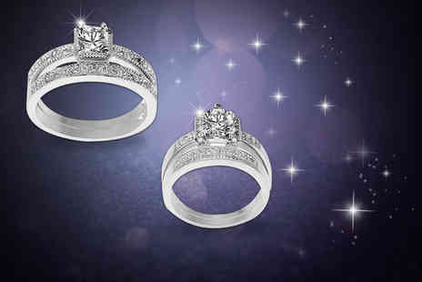 Evoked Design - Cubic zirconia ring set choose from two designs - Save 88%