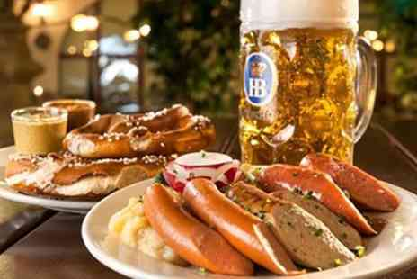 Stein Strasse - German Sharing Platter with Beer for Two or Four - Save 53%