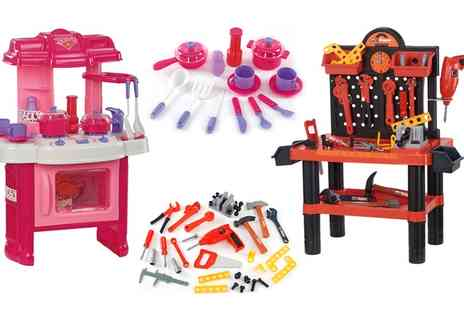 Groupon Goods Global GmbH - Childrens Workshop or Kitchen Playset - Save 68%
