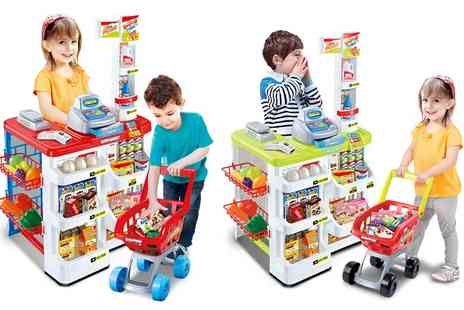 Groupon Goods Global GmbH - Childrens Supermarket and Shopping Trolley Play Set - Save 46%