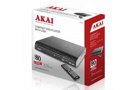 Love Home Brands - AKAI Compact DVD Player with Usb - Save 0%