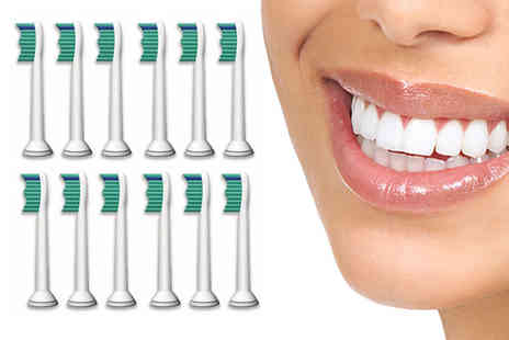 Fair Retail Adventures - Pack of twelve Philips compatible toothbrush heads - Save 87%