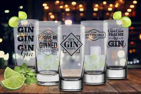 CNC Group - Novelty slim gin glass - Save 31%