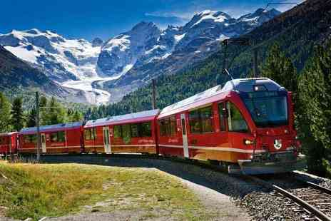 Weekender Breaks - Three night Italy and Switzerland break including scenic Bernina express train and flights - Save 35%