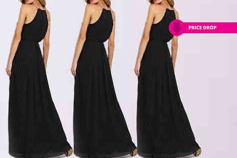 Boni Caro - Pleated maxi dress - Save 90%