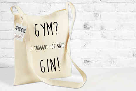 Treats on Trend - Gym? I Thought You Said Gin! tote bag - Save 60%