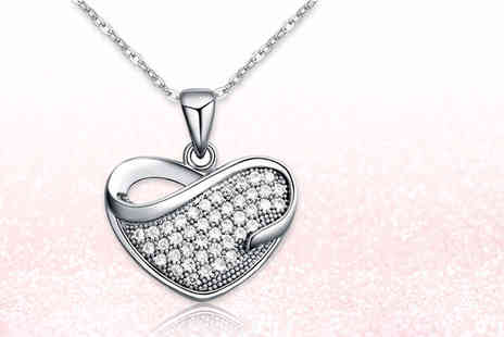 Evoked Design - Crystal heart necklace - Save 88%