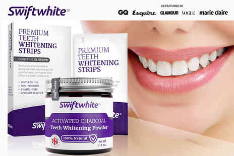 Swift White - Charcoal and teeth whitening strips - Save 78%