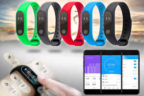 Innova Brands - Bluetooth M2 heart rate fitness tracker smart bracelet choose from five colours - Save 81%