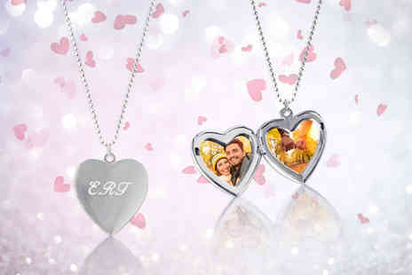 Your Perfect Canvas - Personalised locket and chain - Save 80%