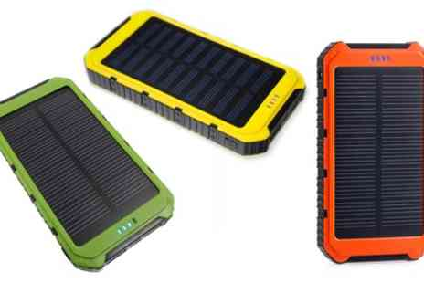 Groupon Goods Global GmbH - One, Two or Three 10000mAh Solar Chargeable Power Banks - Save 85%