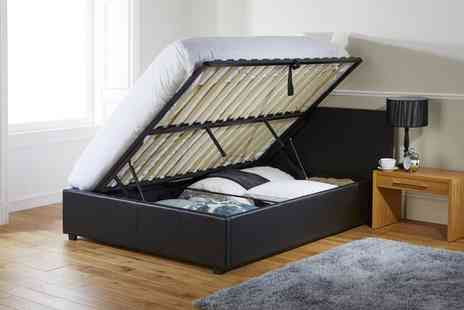 Groupon Goods Global GmbH - Ottoman Storage Bed with Optional Eco Foam or Bonnell Mattress With Free Delivery - Save 57%