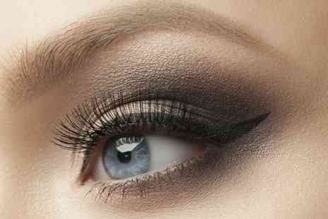 Addictions Hair & Beauty - Semi Permanent Eyelash Extensions with Optional Eyebrow Shape and Tint - Save 46%