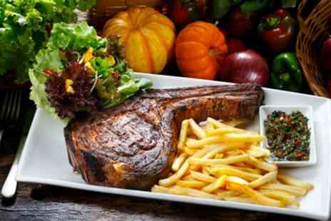 The Dandy Lion - Rib Eye Steak with Chips, Side Salad and Wine for Two or Four - Save 52%