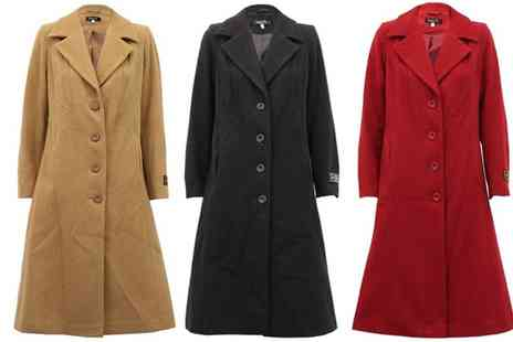 Groupon Goods Global GmbH - Womens Long Coat in Choice of Colour With Free Delivery - Save 0%