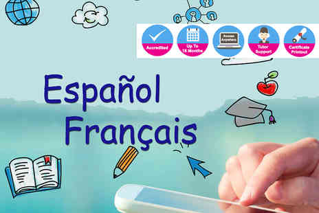 E Speaks - Three, six, twelve or sixteen months of online French or Spanish courses - Save 82%