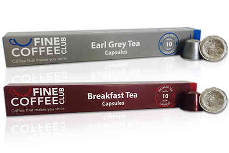 Fine Coffee Club - 60 Nespresso compatible tea pods - Save 21%