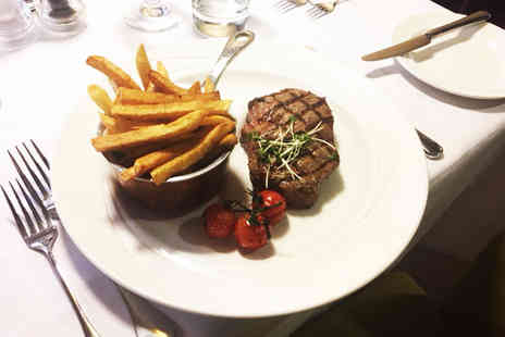Marco Pierre White Steakhouse Bar & Grill - Sirloin steak meal for two with a glass of Prosecco each - Save 56%