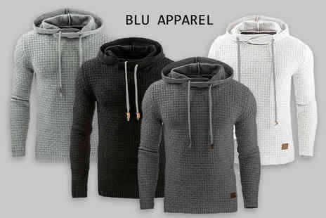 Blu Apparel - Mens textured hoodie choose from four colours - Save 0%