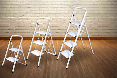 Direct 2 Publik - Foldable non slip three step ladders - Save 57%