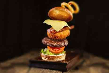 The Five Bells - Burger with Beer or Wine for Two or Four - Save 0%