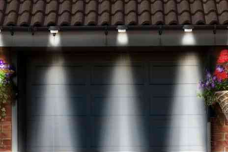 Groupon Goods Global GmbH - Up to 8 Solar Gutter Lights in Choice of Colour - Save 70%