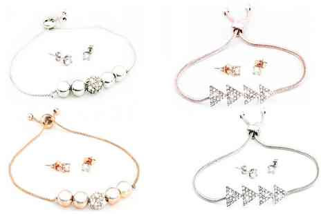Groupon Goods Global GmbH - One or Two Bracelet and Earrings Sets - Save 86%