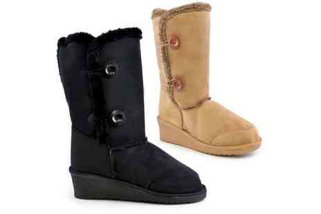 Groupon Goods Global GmbH - One or Two Pairs of Womens Wedge Snow Boots - Save 0%
