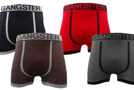 Get The Trend - Mens Novelty Themed Seamless Boxers Six Pack - Save 60%