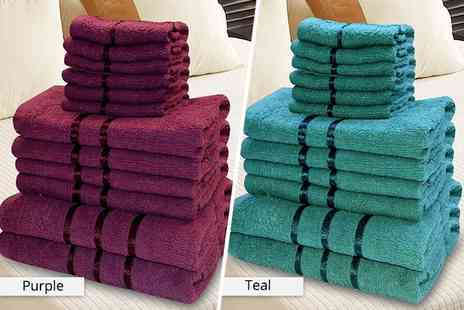 Black Feather - 12pc luxury towel set choose from four colours - Save 81%
