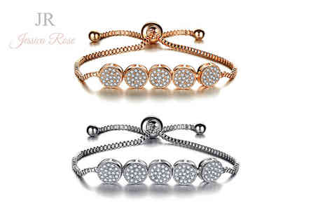 Solo Act - Jessica rose crystal friendship bracelet choose from two colours - Save 76%