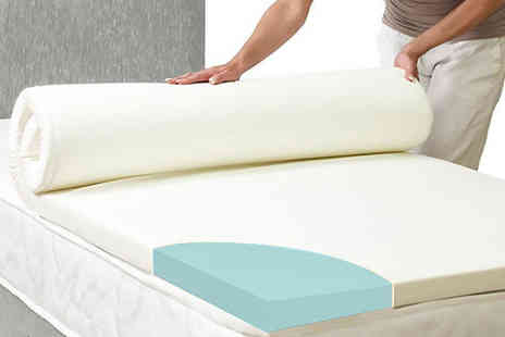 My Mattress Online - Small single cool blue mattress topper, single, small double or double, king size or super king - Save 70%