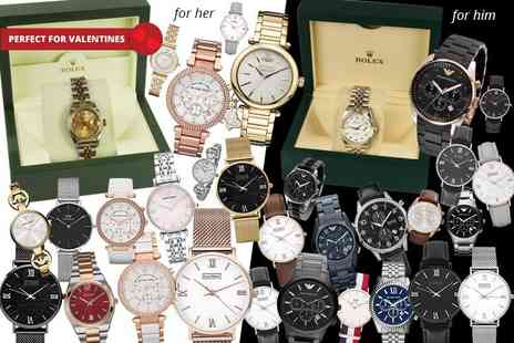 Gray Kingdom - Deluxe mystery watch deal for him or her from Rolex, V.Westwood, MK, L.Henry, Daniel Wellington, Bulova, Armani and more - Save 0%