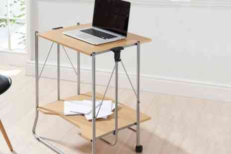 Groupon Goods Global GmbH - Fold Away Desk in Oak Effect Finish - Save 0%