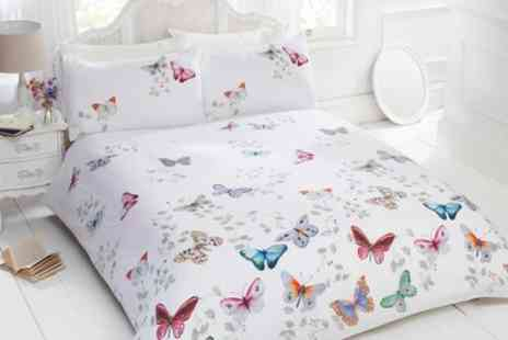 Groupon Goods Global GmbH - Rapport Home Mariposa Duvet Cover Set - Save 75%
