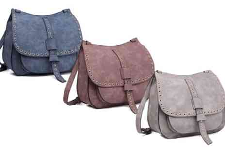 Groupon Goods Global GmbH - Suede Effect Saddle Bag - Save 50%