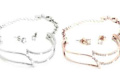 Groupon Goods Global GmbH - One or Two Bangle and Earrings Jewellery Sets - Save 86%