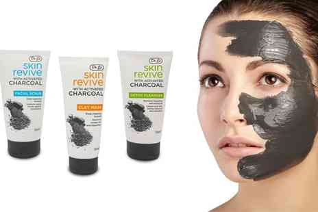 Groupon Goods Global GmbH - Dr Js Charcoal Detox Cleanser, Facial Scrub or Clay Mask - Save 63%