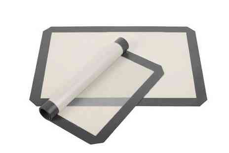 Groupon Goods Global GmbH - Two or Four Non Stick Silicone Baking Mats - Save 65%