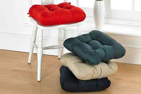 Groupon Goods Global GmbH - Four Chair Cushions in Choice of Colour - Save 40%