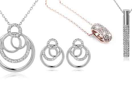 Groupon Goods Global GmbH - Necklace and Earrings Set - Save 90%