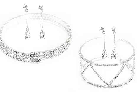 Groupon Goods Global GmbH - One or Two Ava and Mia Bracelet and Earrings Sets - Save 86%