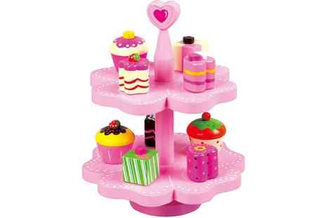 Groupon Goods Global GmbH - Lelin Wooden Toy Cake Stand - Save 60%