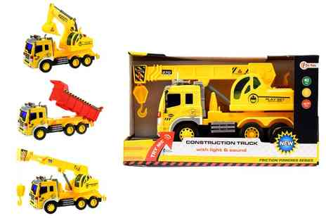Groupon Goods Global GmbH - Plastic Construction Truck with Light and Sound - Save 56%