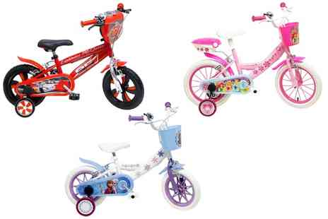 Groupon Goods Global GmbH - Disney Themed Kids Bike in Choice of Style With Free Delivery - Save 26%