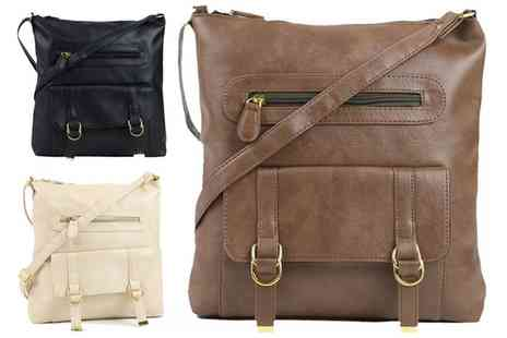 Groupon Goods Global GmbH - One or Two Double Zip Cross Body Bags - Save 69%