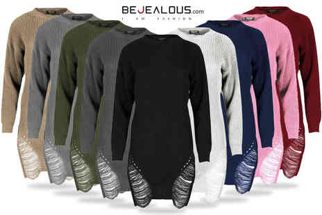 Be Jealous - Ripped knitted dress - Save 57%