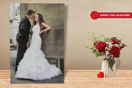 Your Perfect Canvas - Personalised A1 canvas get a special gift for someone this Valentines Day - Save 82%