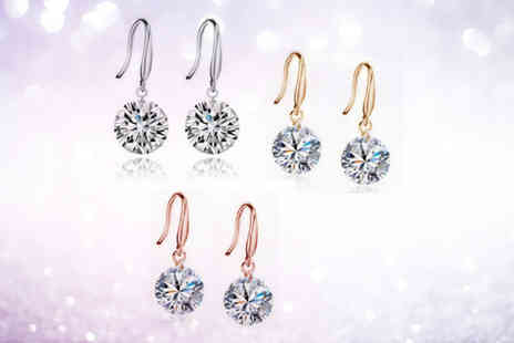Solo Act - Three pairs of crystal drop earrings - Save 82%
